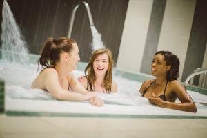 Group of ladies enjoying the spa pool