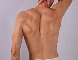 Smooth back neck and shoulders