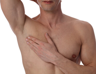 Smooth chest wax
