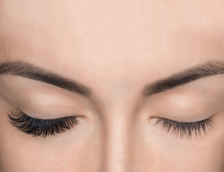 Eyelash extension effect