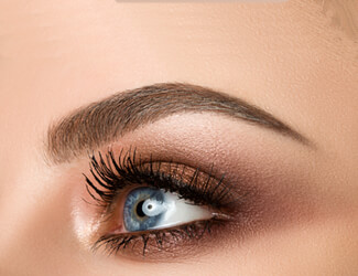 Beautiful eyelash and brows tinted