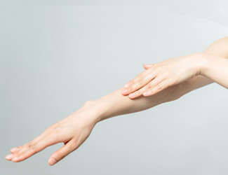 Smooth forearm, waxing treatment