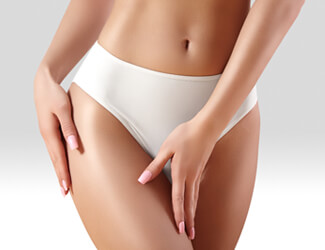 Hot wax bikini wax treatment