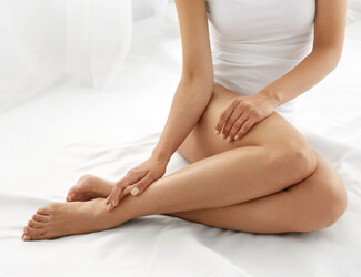 Smooth legs from waxing