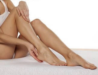 Smooth skin from waxing