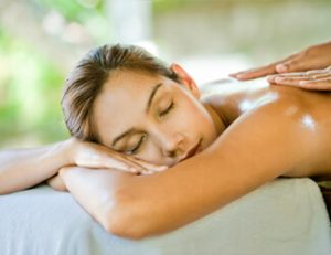 Lady enjoying a body massage